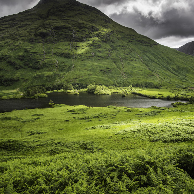 """Glen Etive"" stock image"
