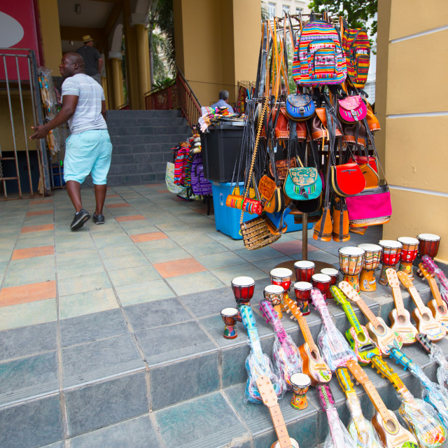 """Street Vendor in Old San Juan"" stock image"