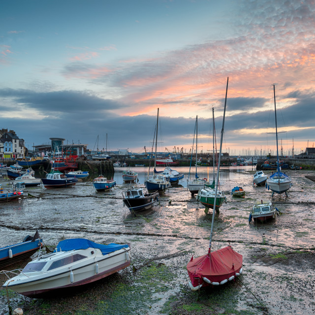 """Sunrise at Brixam in Devon"" stock image"