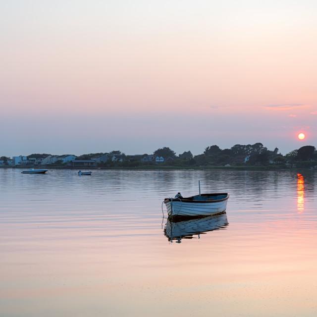 """Mudeford Sunset"" stock image"