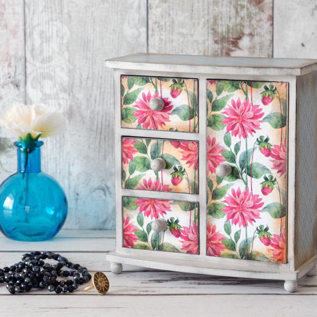 """Handmade Mini Wardrobe"" stock image"