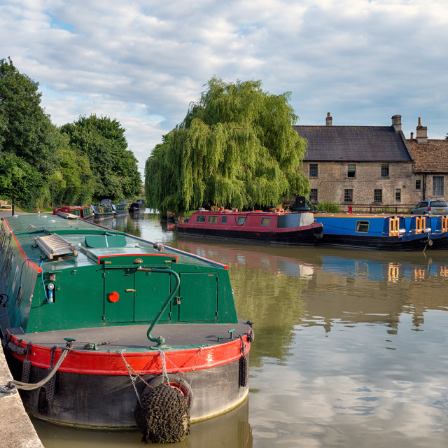 """""""The Kennet and Avon Canal"""" stock image"""