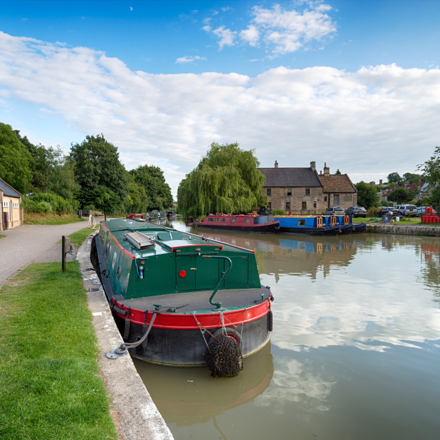 """""""Boats on the Canal"""" stock image"""