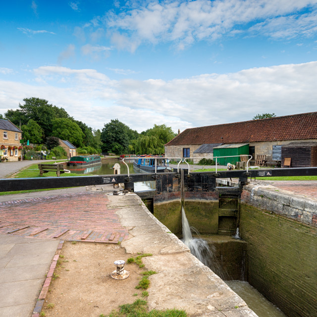 """""""The Kennet & Avon Canal"""" stock image"""