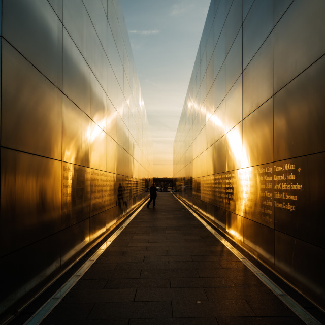 """Empty Sky Memorial Sunset"" stock image"