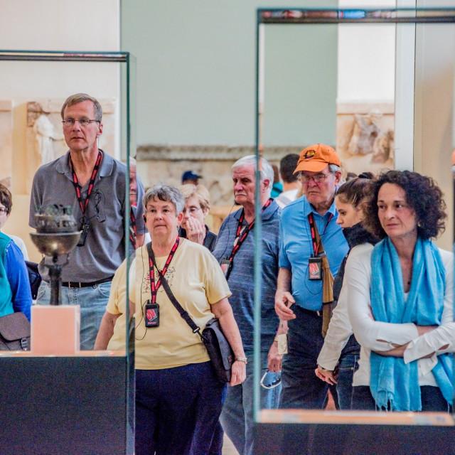 """""""Museum Exhibit Cases."""" stock image"""