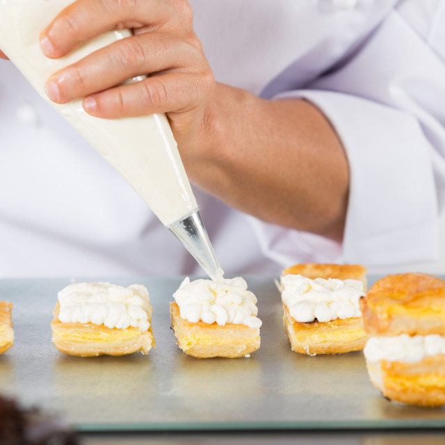 """""""Chef with a pastry bag"""" stock image"""