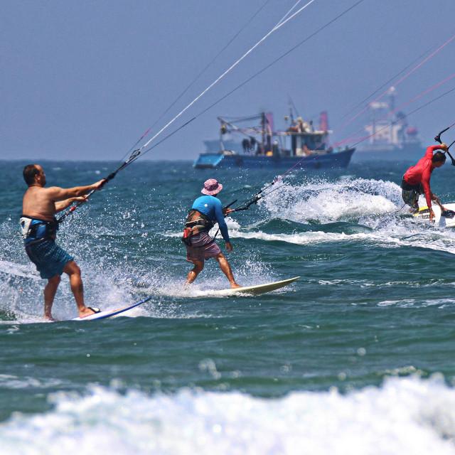 """""""Kite surfing"""" stock image"""