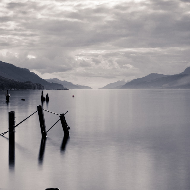 """Loch Ness Posts"" stock image"