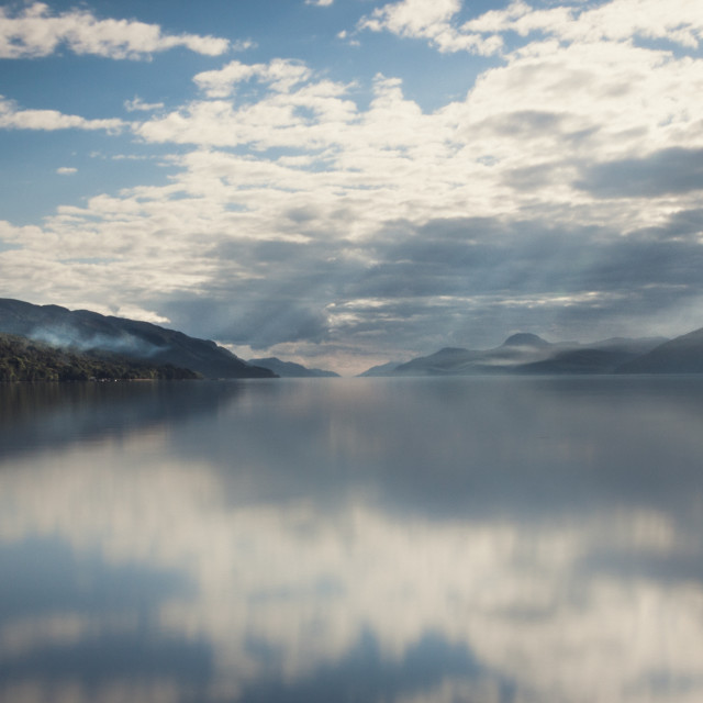 """Sun Rays on Loch Ness"" stock image"