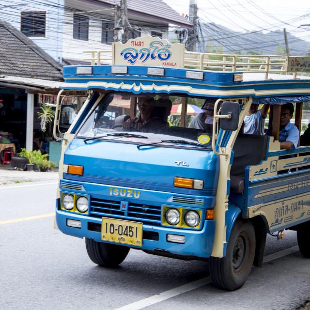 """Bus ride to Phuket"" stock image"