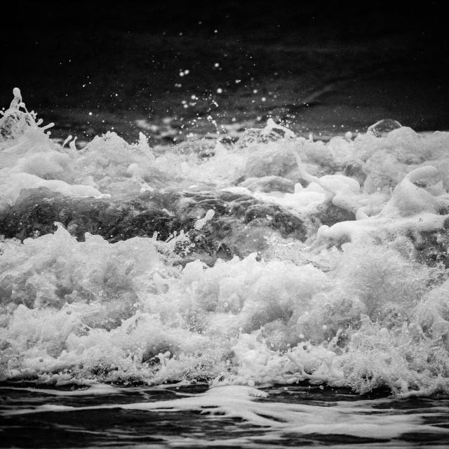 """""""Splashing Waves"""" stock image"""