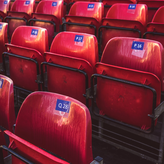 """Red seats"" stock image"