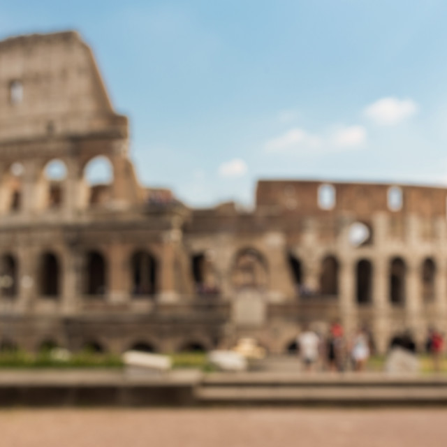 """Colosseum in Rome background"" stock image"