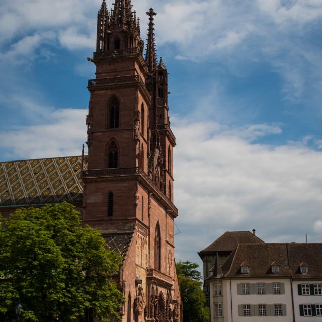 """Basel Church"" stock image"