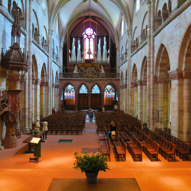 """Inside Basel church"" stock image"