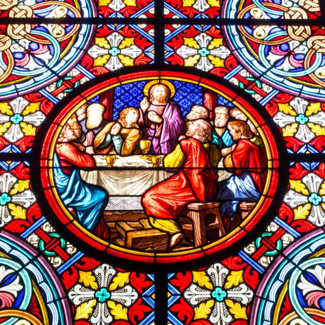 """Church Glass Basel"" stock image"