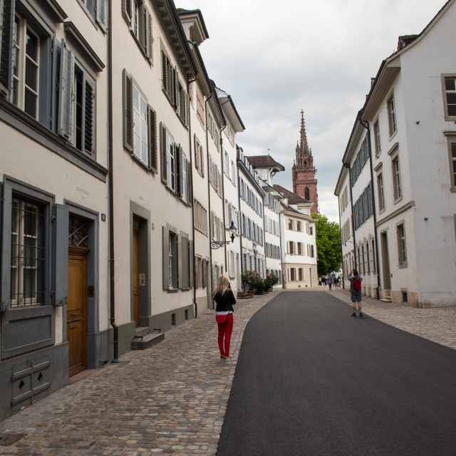 """""""old town Basel"""" stock image"""