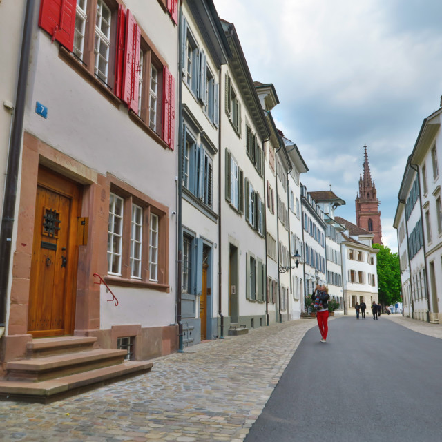 """""""Basel old town"""" stock image"""