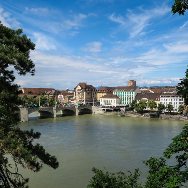 """Basel bridge"" stock image"