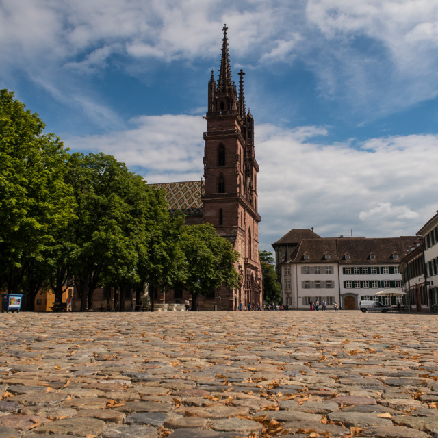 """""""Basel Cathedral"""" stock image"""