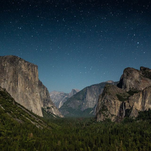 """Tunnel View at Night"" stock image"