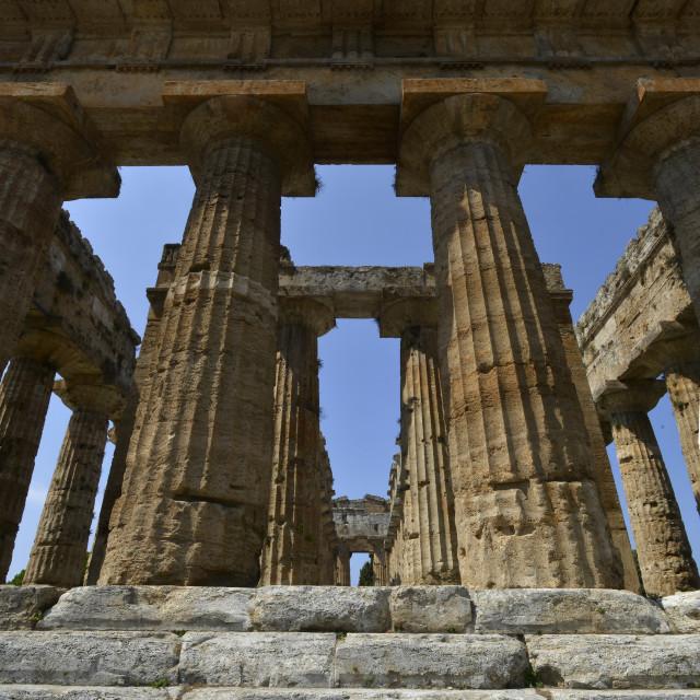 """Paestum, Neptune's temple"" stock image"