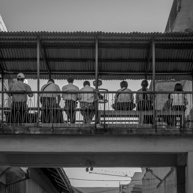 """Yangon on a Sunday Afternoon"" stock image"