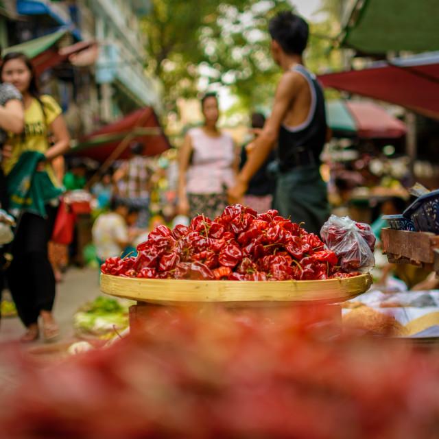 """Yangon Market"" stock image"