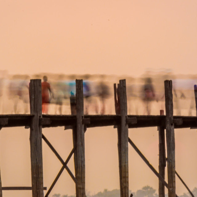 """U Bein Bridge at Sunset"" stock image"