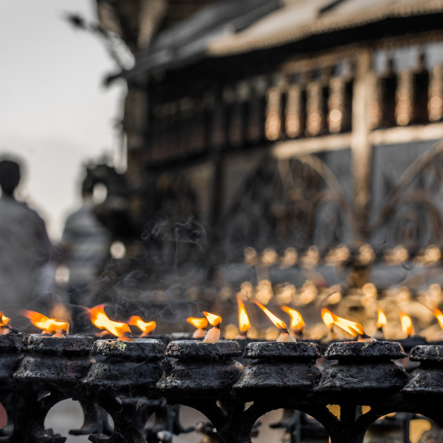 """Swayambhunath Candles"" stock image"