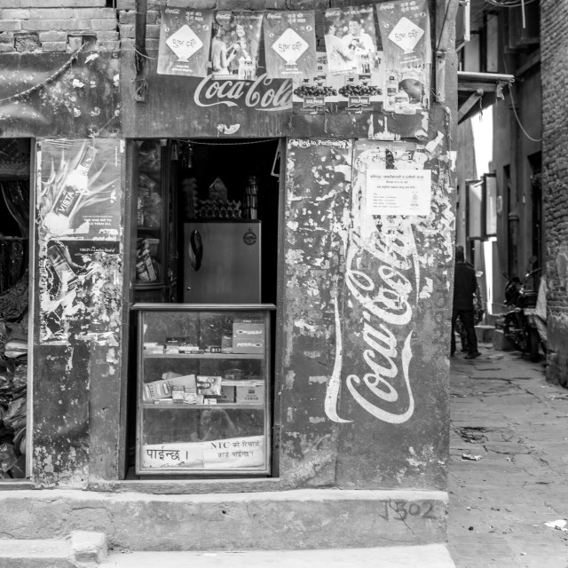 """Coca Cola Cornershop"" stock image"