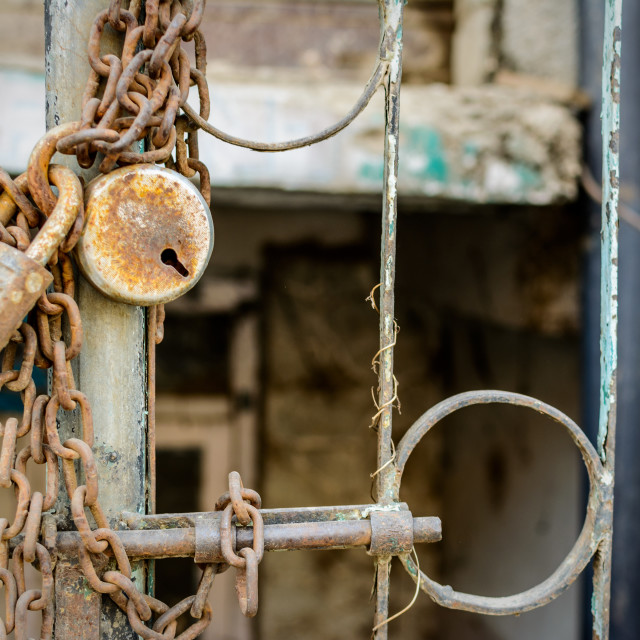 """Rusty Lock"" stock image"