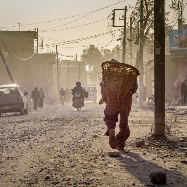"""""""Kathmandu Street Scene"""" stock image"""