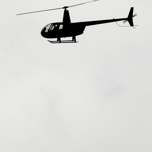 """Helicopter Silhouette (Vertical)"" stock image"