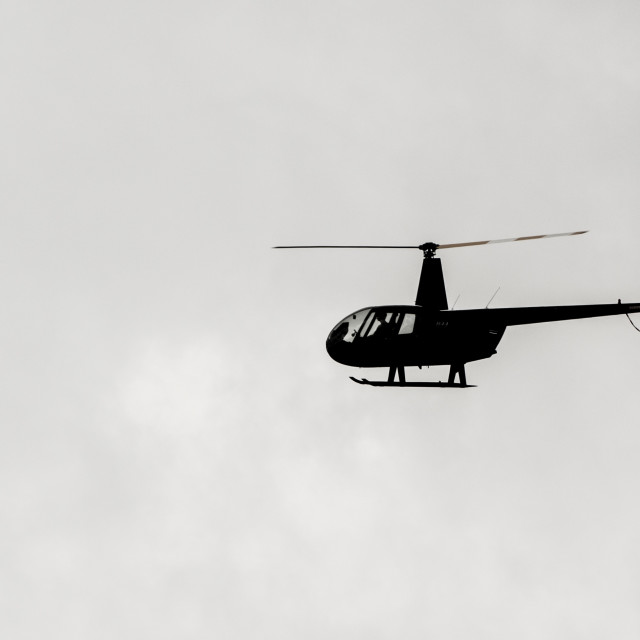 """Helicopter Silhouette (Horizontal)"" stock image"