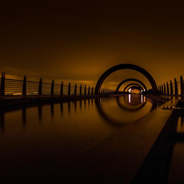 """The Falkirk Wheel"" stock image"