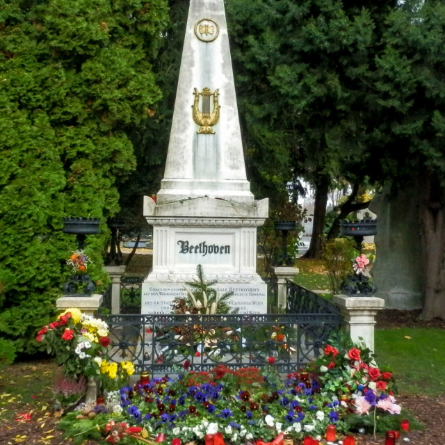 """Beethoven's grave"" stock image"