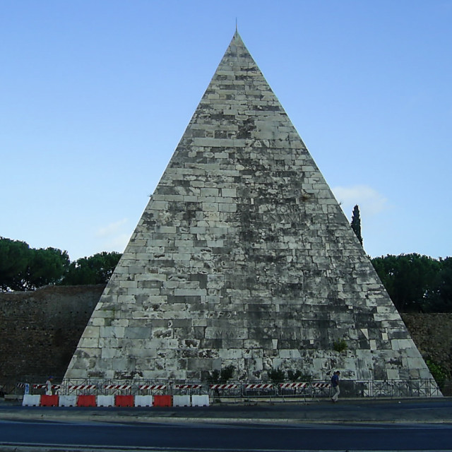 """Pyramid of Cestius"" stock image"