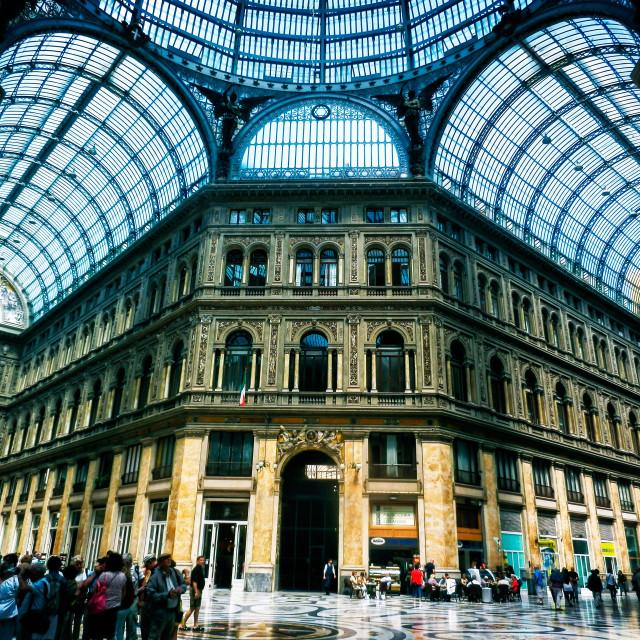 """Galleria Umberto I"" stock image"