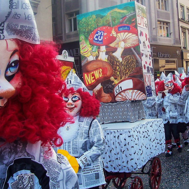 """Fasnacht in Basel"" stock image"