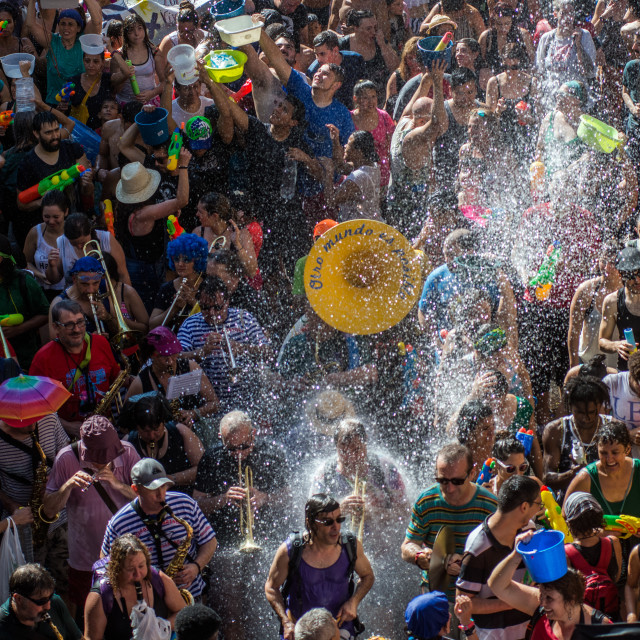"""Water fight festival"" stock image"