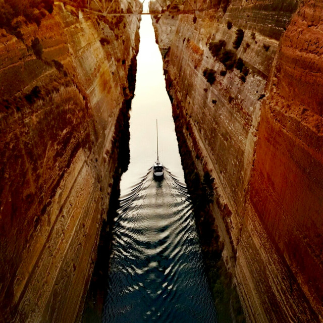 """""""canal of Corinth, Greece"""" stock image"""