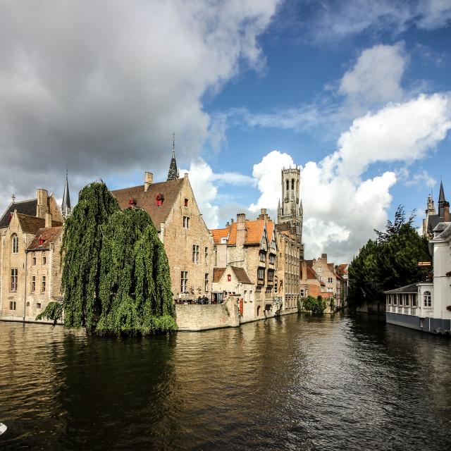 """Bruges Summer River View"" stock image"