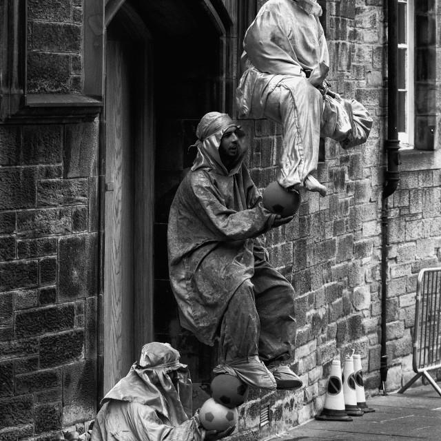 """""""Street Performers in Edinburgh"""" stock image"""