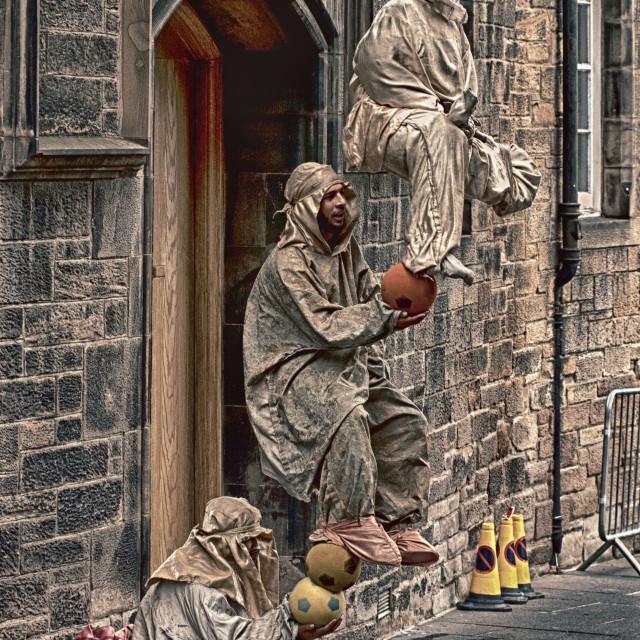 """Street Performers Edinburgh"" stock image"