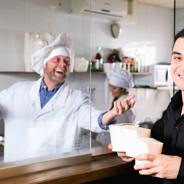 """Customer buys fastfood"" stock image"