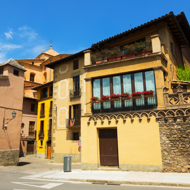 """""""street of old Catalan town. Vic"""" stock image"""