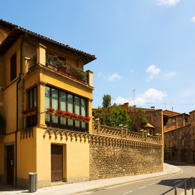 """""""Street of of old Catalan town. Vic"""" stock image"""