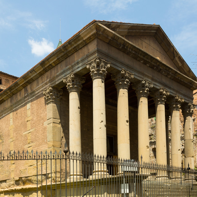 """""""ancient Roman temple in Vic"""" stock image"""